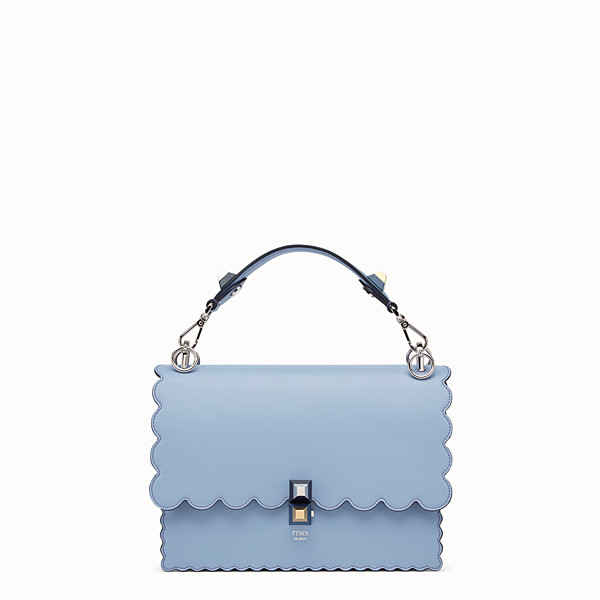 FENDI KAN I - Light blue leather bag - view 1 small thumbnail