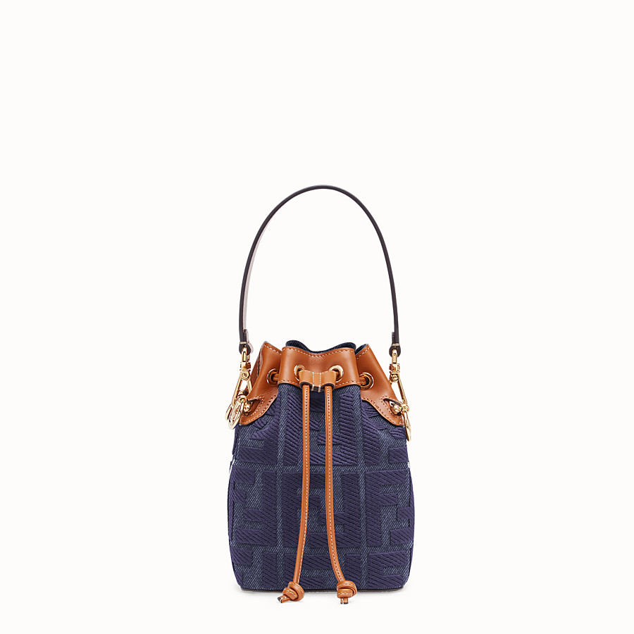 FENDI MON TRESOR - Blue denim mini bag - view 1 detail