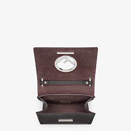 FENDI KAN I F SMALL - Black leather mini-bag - view 5 thumbnail