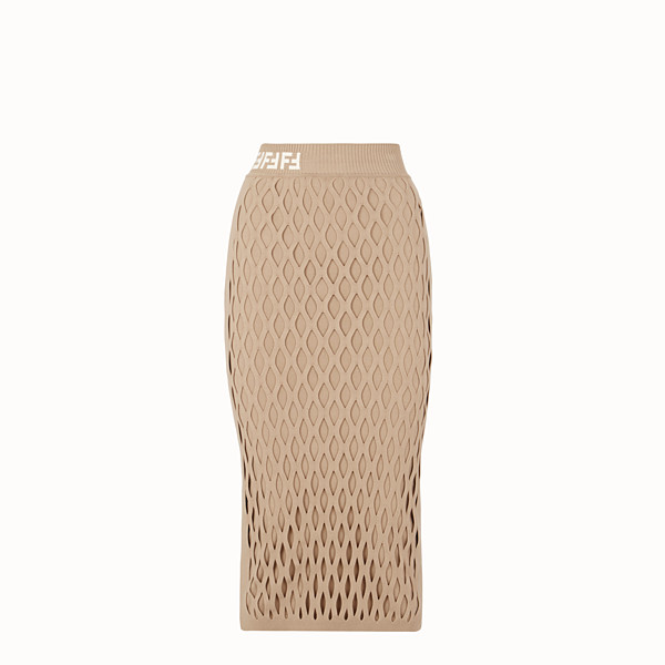 FENDI SKIRT - Beige jersey skirt - view 1 small thumbnail