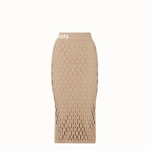 FENDI SKIRT - Beige jersey skirt - view 1 small thumbnail