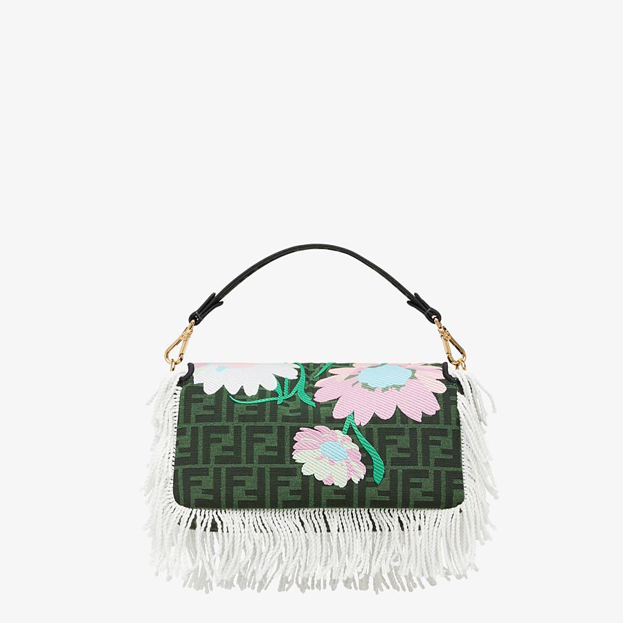 FENDI BAGUETTE - Green fabric bag - view 4 detail