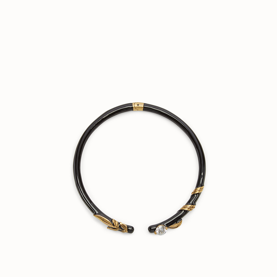 FENDI JULIUS CAESAR CHOKER - Black and gold-coloured necklace - view 1 detail