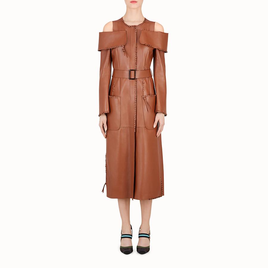 FENDI 外套 - 棕色皮革外套 - view 1 detail