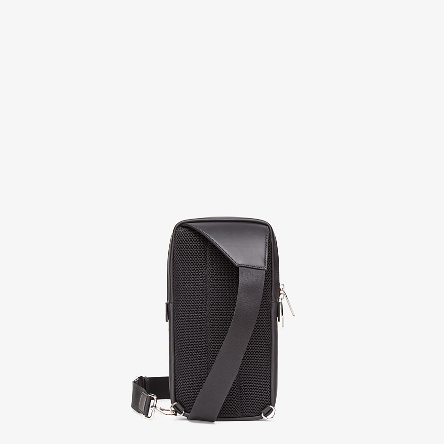 FENDI BELT BAG - One-shoulder backpack in brown fabric - view 3 detail