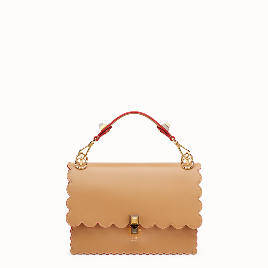 FENDI KAN I - Brown leather bag - view 1 detail