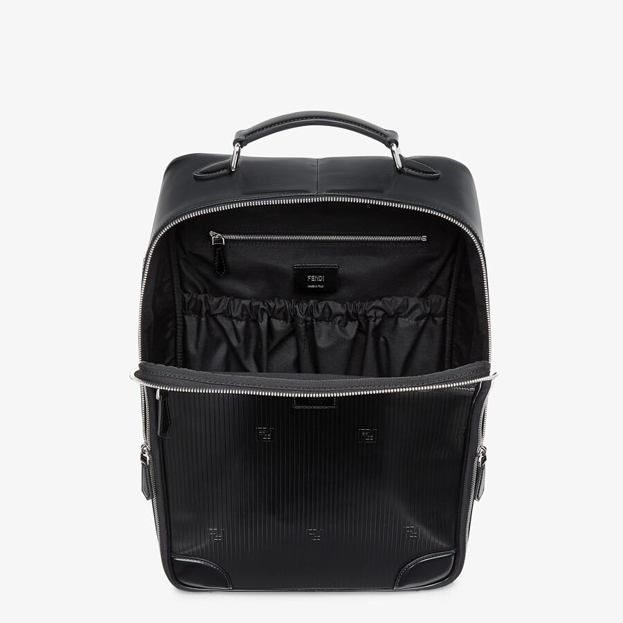 FENDI TRAVEL BACKPACK - Black leather backpack - view 4 detail