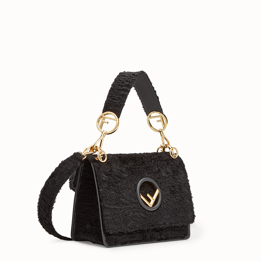 FENDI KAN I F - Black velvet bag - view 2 detail