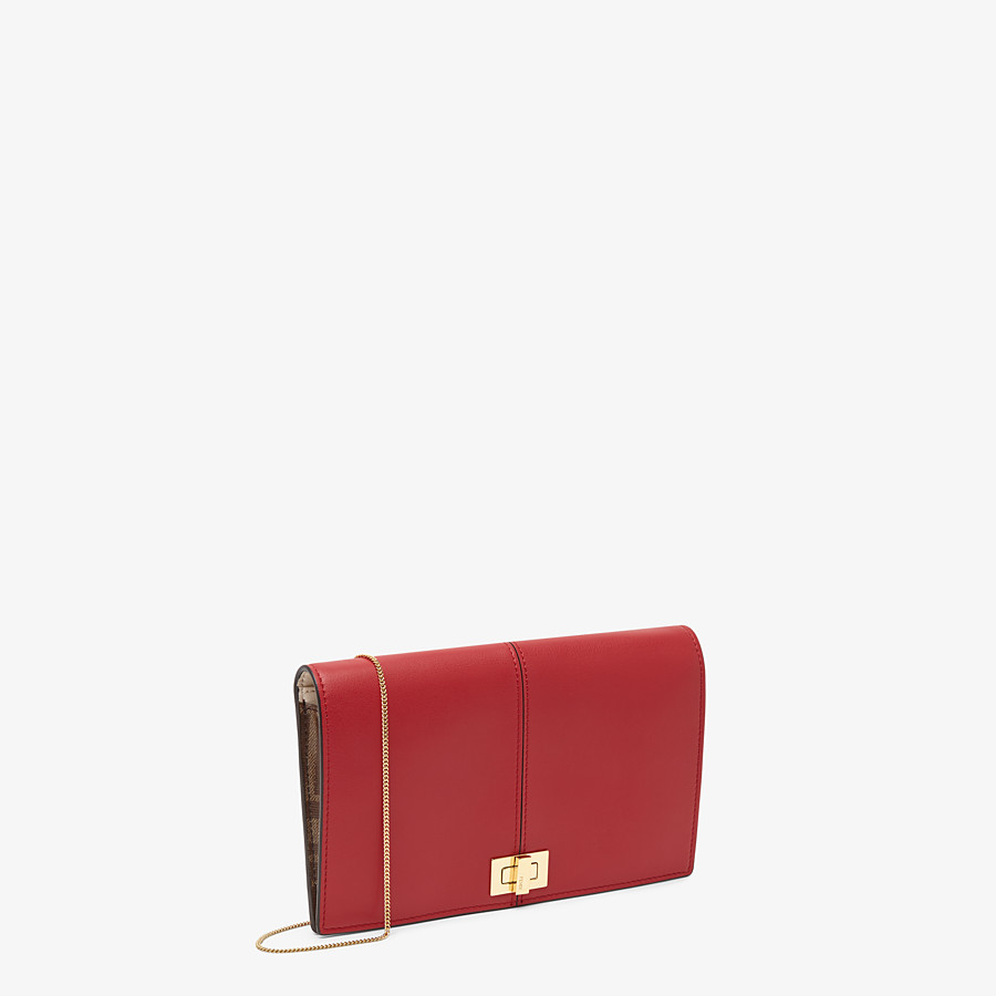 FENDI WALLET ON CHAIN - Minibag in pelle rossa - vista 2 dettaglio