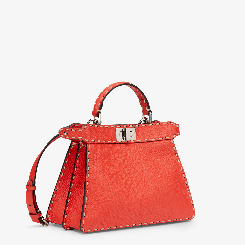 FENDI PEEKABOO ISEEU SMALL - Red full grain leather bag - view 2 detail