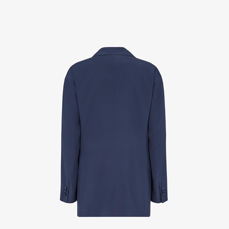 FENDI JACKET - Blue crêpe de chine jacket - view 2 detail