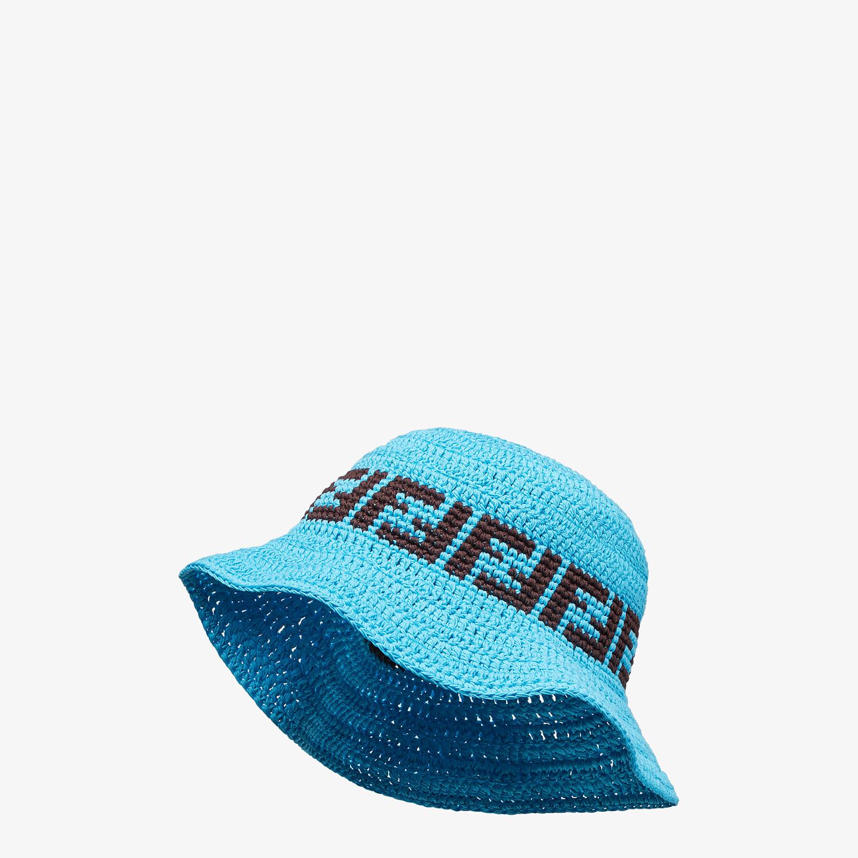 FENDI HAT - Light blue cotton hat - view 1 detail