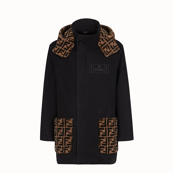 FENDI PARKA - Black cotton parka - view 1 small thumbnail