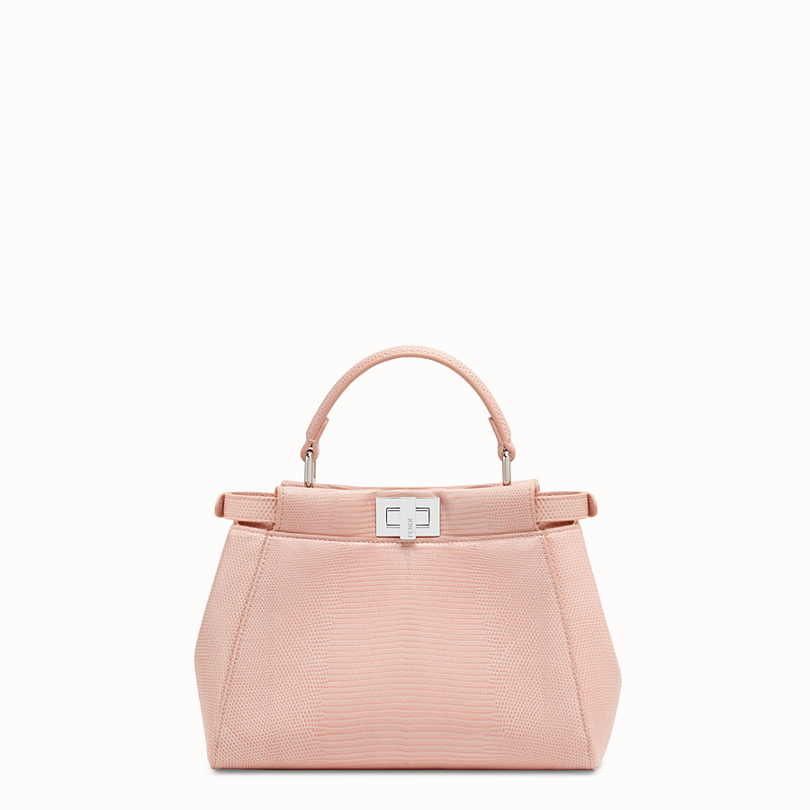 FENDI PEEKABOO MINI - Pink lizard leather bag - view 3 detail
