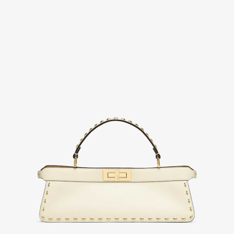 FENDI PEEKABOO ISEEU STRETCH - White leather bag - view 1 detail