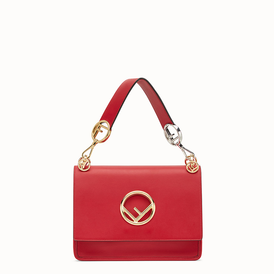 FENDI KAN I LOGO - Red leather bag - view 1 detail