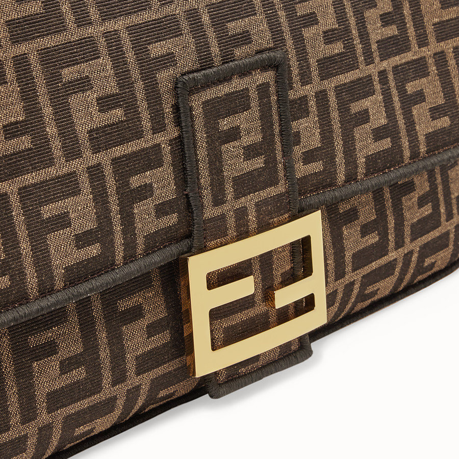 FENDI BAGUETTE LARGE - Brown fabric bag - view 5 detail