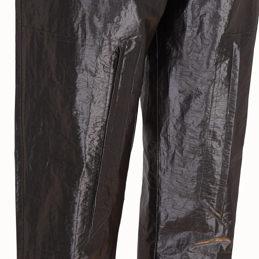 FENDI TROUSERS - Metallic nylon trousers - view 3 detail