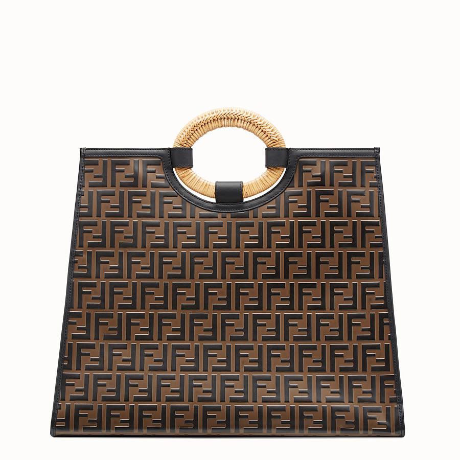 FENDI RUNAWAY SHOPPING - Shopper in pelle multicolor - vista 4 dettaglio