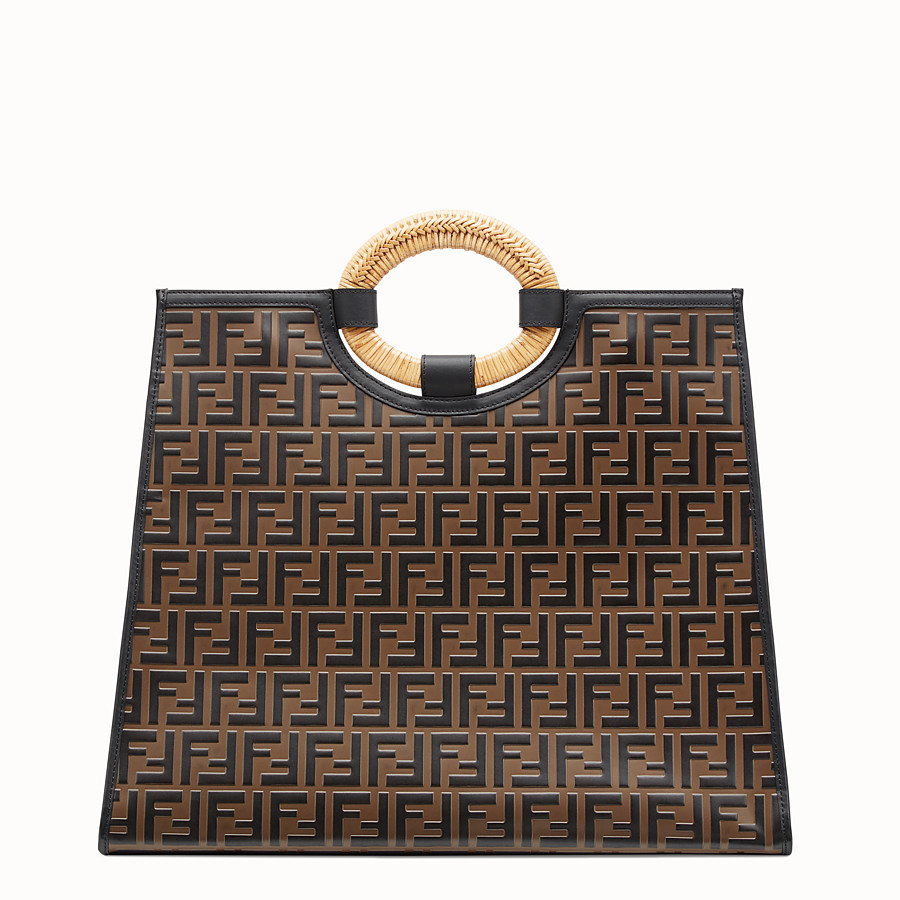 FENDI RUNAWAY SHOPPER - Multicolour leather shopper - view 3 detail