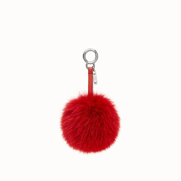 FENDI POMPOM CHARM - Charm in red fur - view 1 small thumbnail