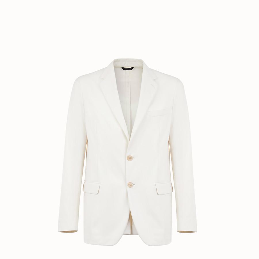 FENDI JACKET - White cotton blazer - view 1 detail