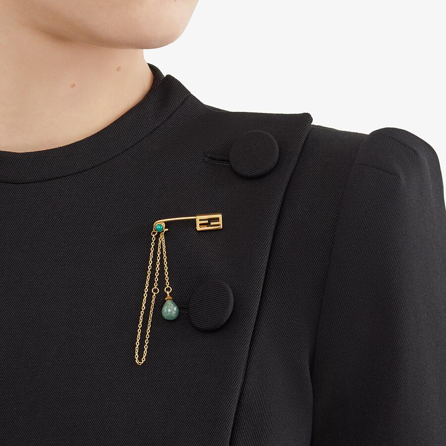 FENDI BAGUETTE BRACELET SMALL - Gold-colored bracelet - view 2 detail