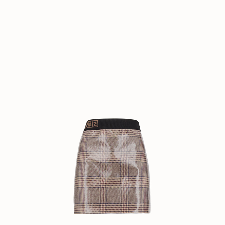 FENDI SKIRT - Prince of Wales check wool mini skirt - view 1 detail