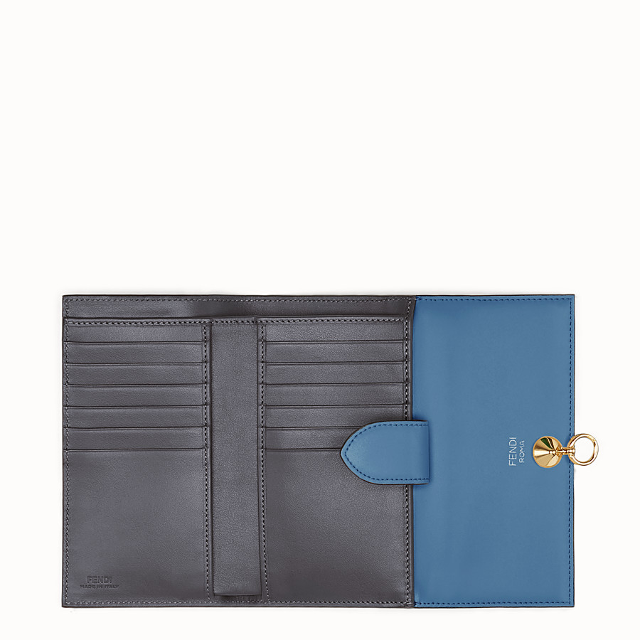 FENDI CONTINENTAL MEDIUM - Blue leather wallet - view 5 detail