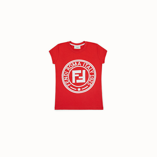 FENDI T-SHIRT - Red jersey T-shirt - view 1 small thumbnail