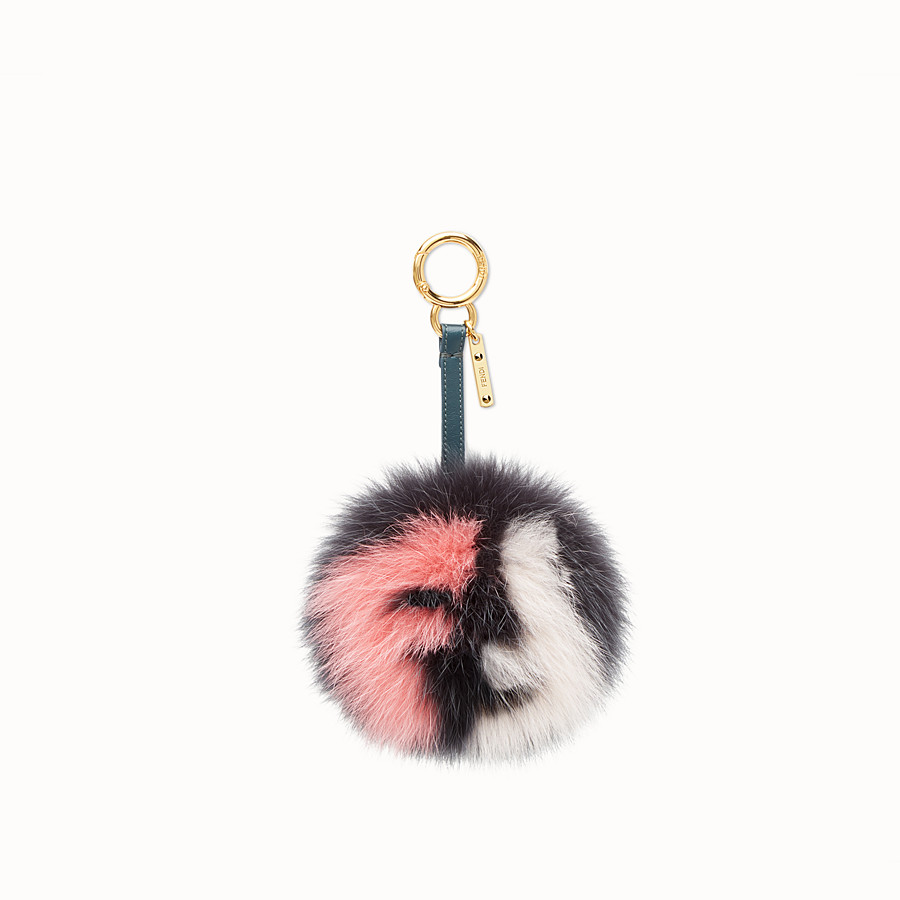 FENDI POM-POM CHARM - Multicolor fur charm - view 1 detail