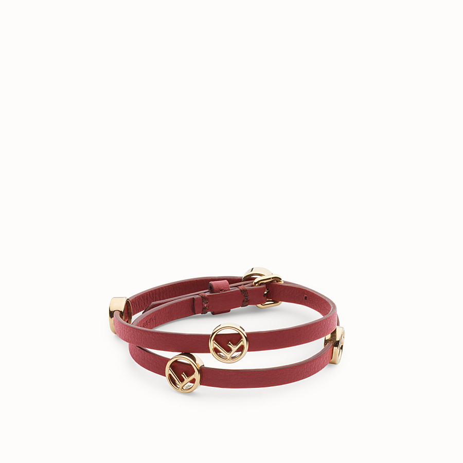 FENDI BRACELET F IS FENDI - Bracelet-choker rouge - view 1 detail
