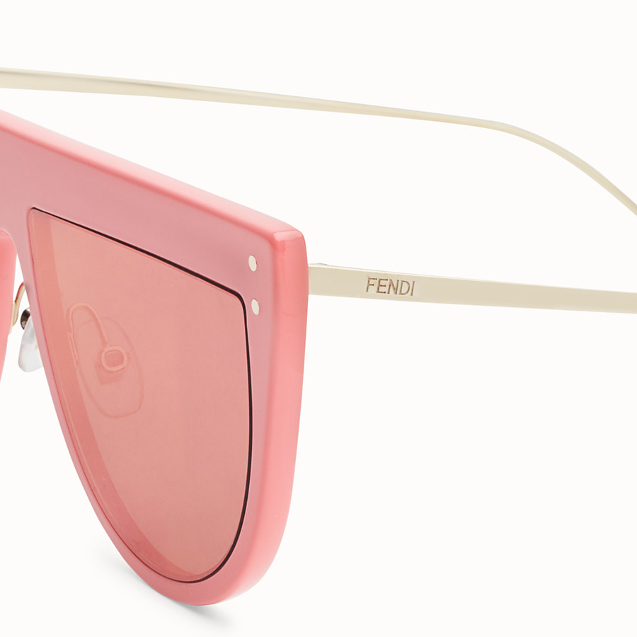 FENDI DEFENDER - Pink sunglasses - view 3 detail