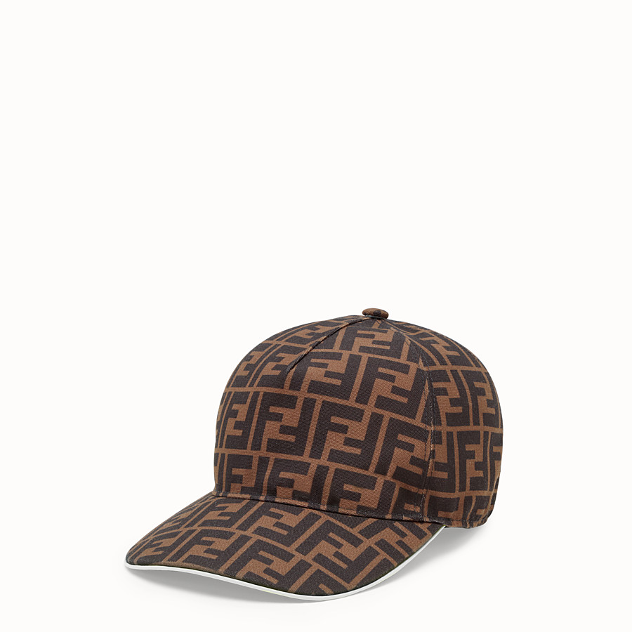 FENDI HAT - Multicolour canvas baseball cap - view 1 detail