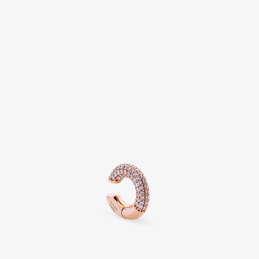 FENDI FENDIOOPS EARRING - Rose-gold-colored earring - view 2 detail
