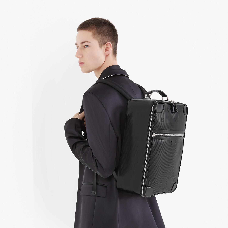 FENDI TRAVEL BACKPACK - Black leather backpack - view 6 detail