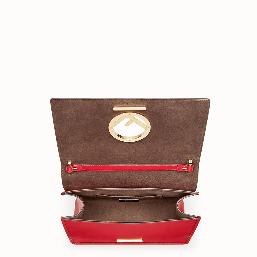 FENDI KAN I LOGO - Red leather bag - view 4 detail