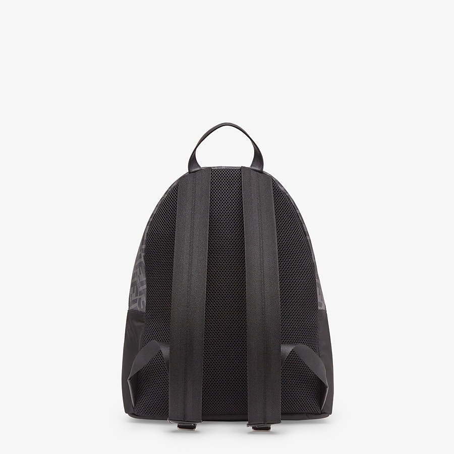 FENDI BACKPACK - Black nylon backpack - view 3 detail