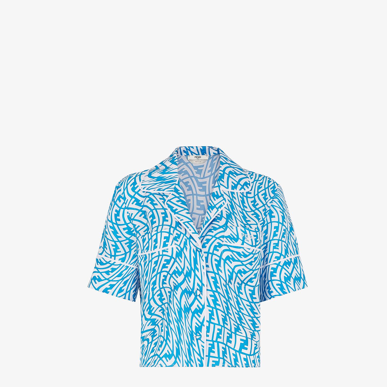 FENDI PIJAMA SET - Light blue silk pyjama set - view 2 detail