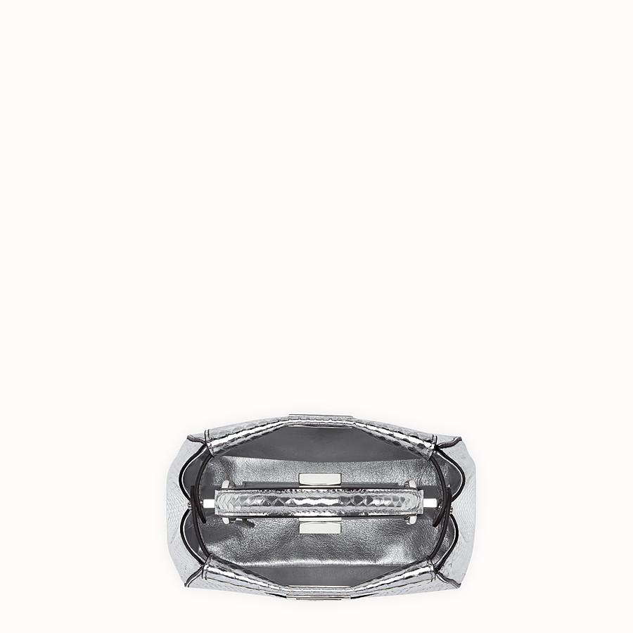 FENDI 特小款式 PEEKABOO ICONIC - 銀色蟒蛇皮迷你手袋 - view 4 detail