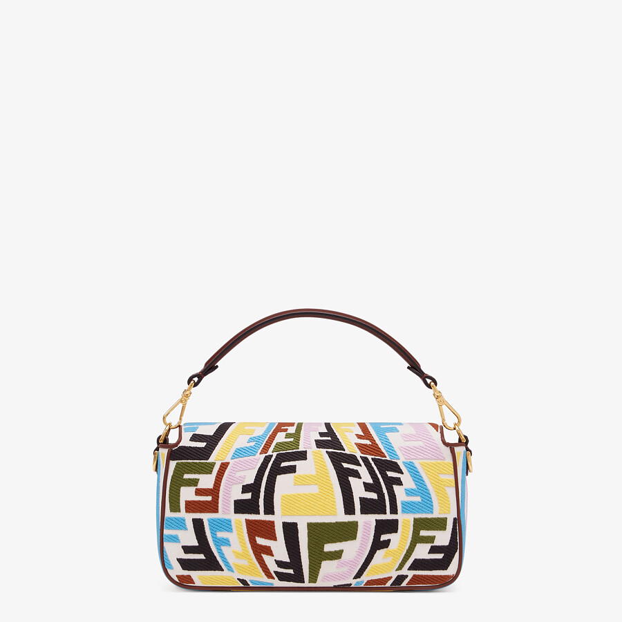 FENDI BAGUETTE - Multicolour embroidered canvas bag - view 4 detail