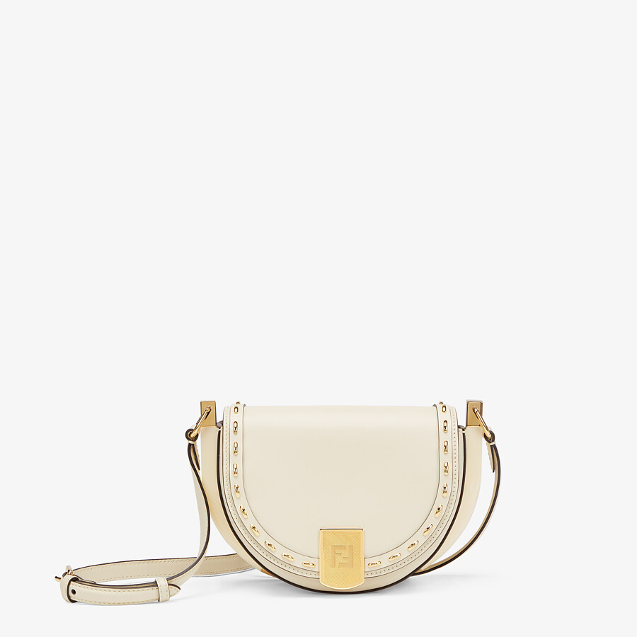 FENDI MOONLIGHT - White leather bag - view 1 detail