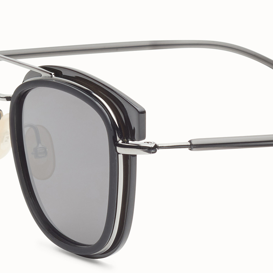 FENDI FENDI GLASS - Dark grey and dark ruthenium sunglasses - view 3 detail