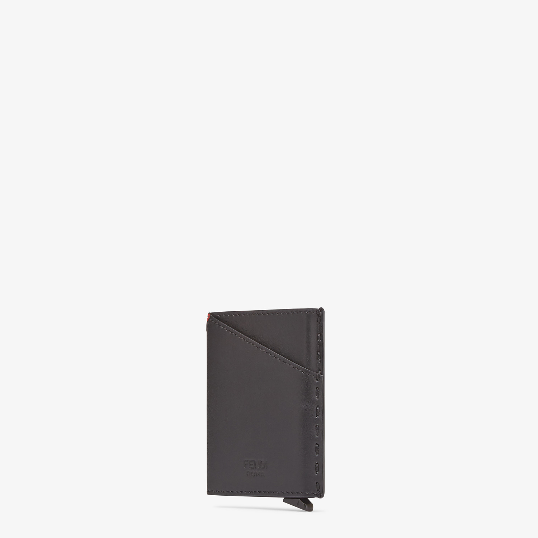 FENDI SLIDE OUT CARD HOLDER - Black leather card holder - view 2 detail