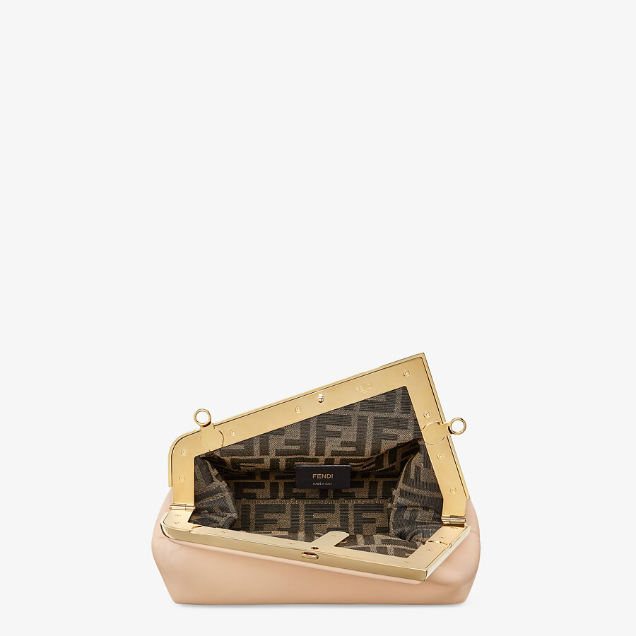 FENDI FENDI FIRST SMALL - Pink leather bag - view 4 detail
