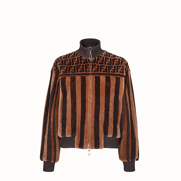 FENDI JACKET - Multicolor shearling bomber jacket - view 1 small thumbnail