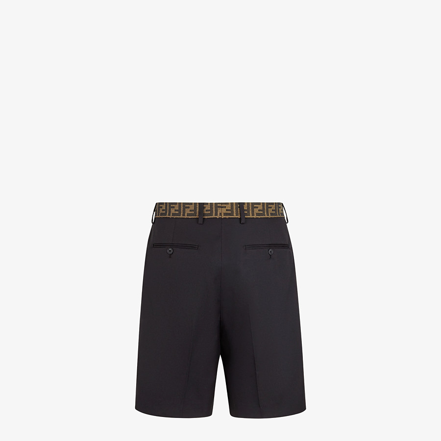 FENDI BERMUDAS - Black gabardine pants - view 2 detail