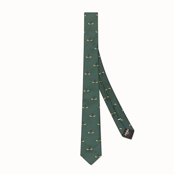 FENDI TIE - Green silk twill tie - view 1 small thumbnail