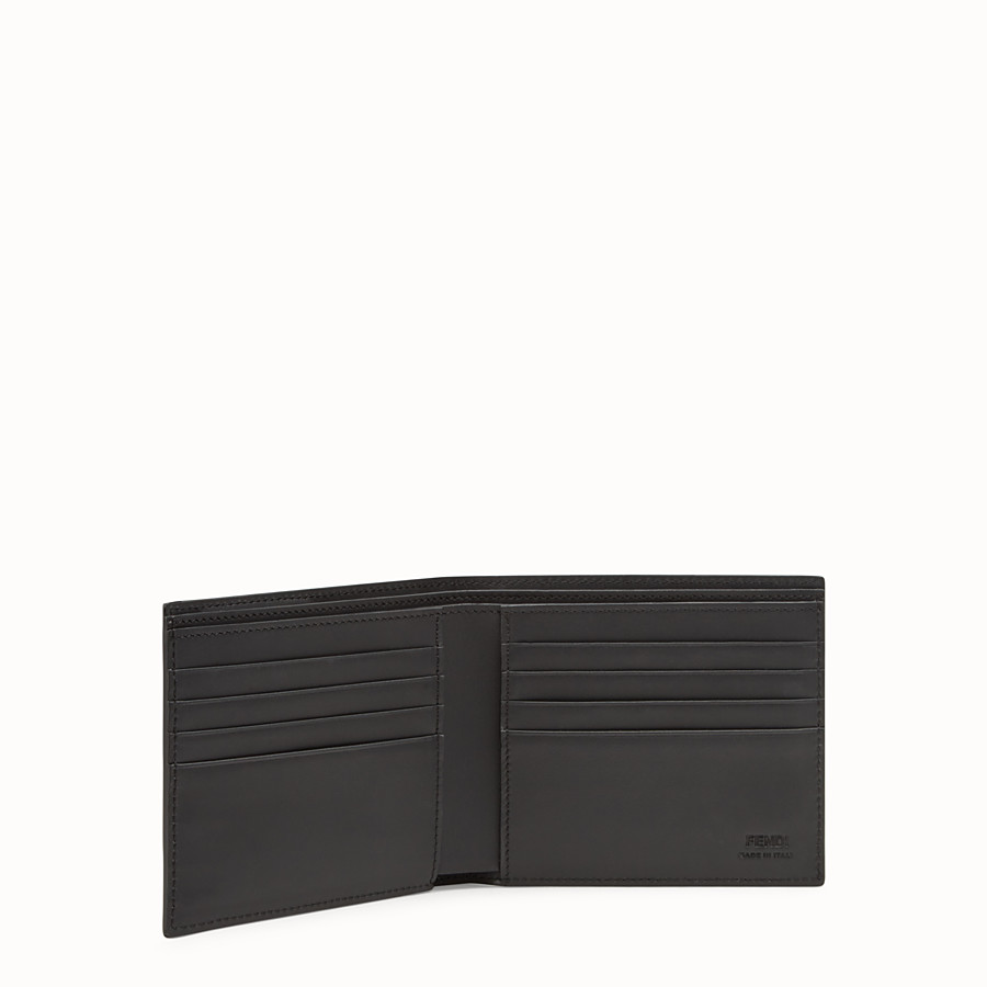 FENDI BI-FOLD WALLET - Black leather bi-fold wallet with exotic leather details - view 3 detail