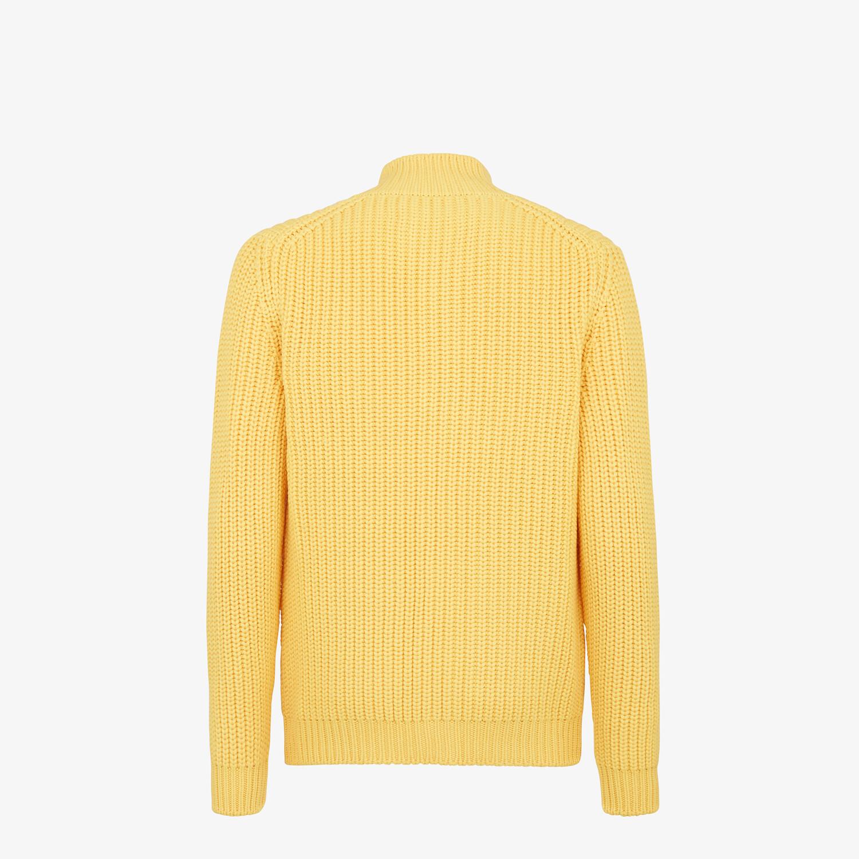 FENDI CARDIGAN - Yellow wool cardigan - view 2 detail